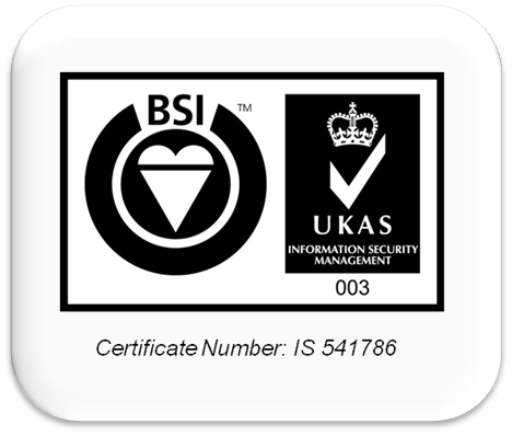 Accredited to ISO27001